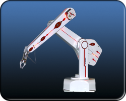 small articulated 5 or 6 axis jointed robot arm